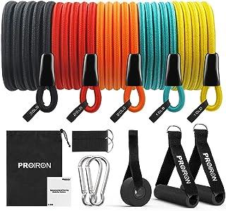 PROIRON motståndsband set motståndsband expander 50–120 stycken latextråd anti-brott omfattande tillbehör inomhus tillgäng...