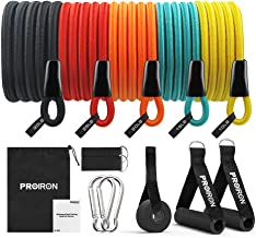 PROIRON Set weerstandsbanden, 50-120 stuks, latexdraad, anti-breuk, rijke accessoires, voor binnen en buiten, spieropbouw,...