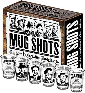 Mug Shots – 6 Piece Shot Glass Set of Famous Gangster Mugshots – Comes in a..