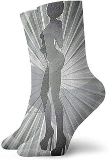 Tropical Birds Classic Crew Calcetines de compresión Punto plano Casual Athletic Stoking 30 cm Ligero