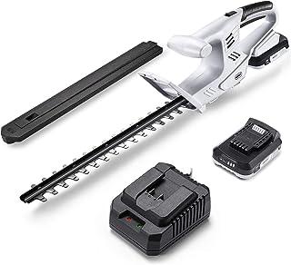 ヘッジトリマー NEODIT ヘッジトリマー コードレス 充電式20V 刈込幅410mm高級刃/切断径16mm 軽量1.7KG 両刃駆動 2000mAhバッテリ・充電器 電流保護 PSE認証