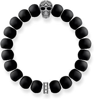 Noirci Thomas Sabo Unisexe Bracelet Talisman Bicolore Noir Argent Sterling 925 Dor/é Or Jaune 18 Carats A1922-966-11