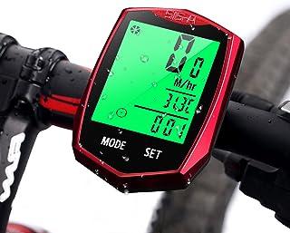 4e664074e Computadora de Bicicleta, AODOOR Ciclocomputador Impermeable inalámbrico  Pantalla LCD Ordenador para Bicicleta Cuentakilómetros Sensor de