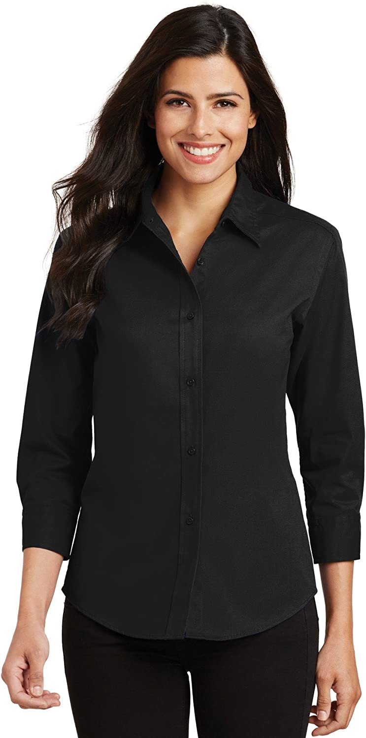 Port Authority New Ladies 3/4-Sleeve Easy Care Shirt. L612