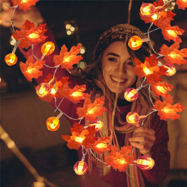 Halloween Decorations Maple Pumpkin 4.9Ft Lights丨1.5m String B Sales of SALE items from new works Alternative dealer