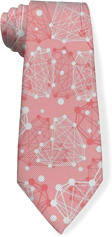 Cute Dot The Shape of Love Mens Classic Color Slim Tie, Men's Neckties, Fashion Boys Cravats