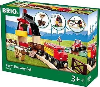BRIO 33719 Farm Railway Set   Toy Train Set for Kids Age 3 and Up