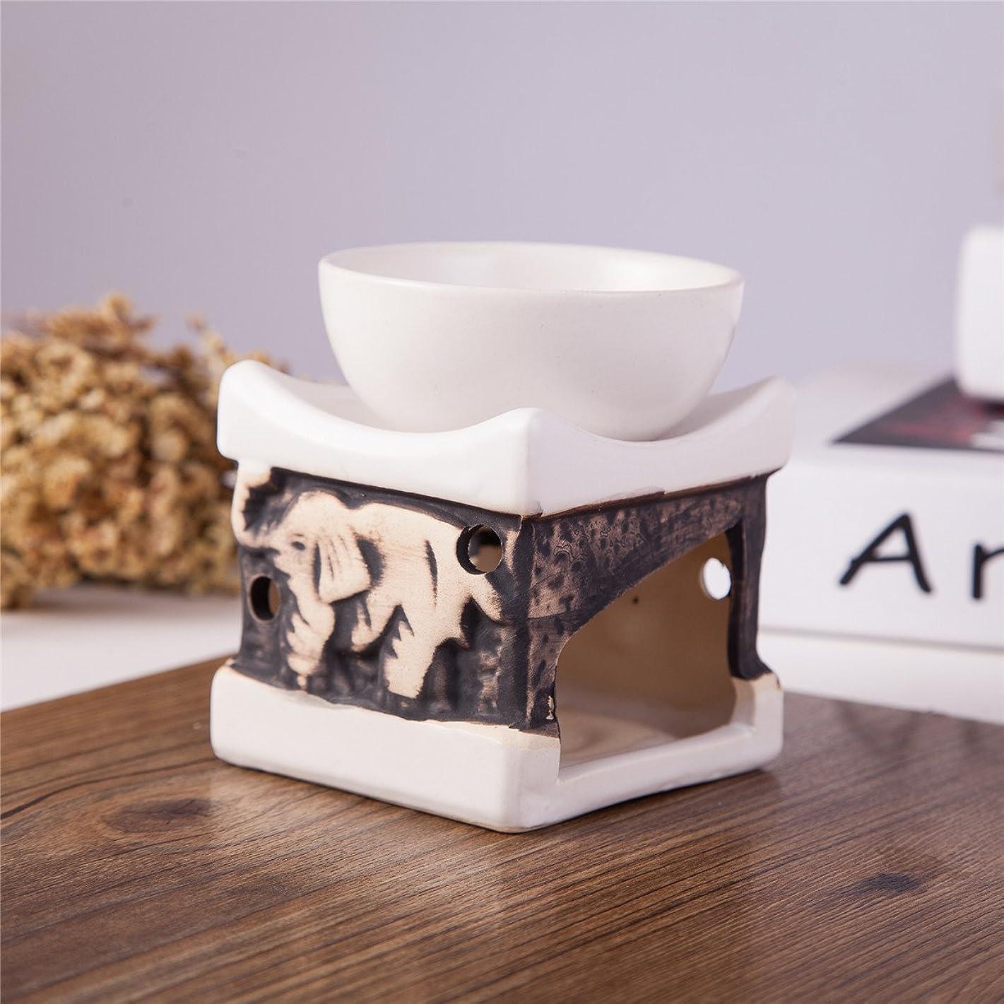 Feng Shui Zen Ceramic Essential Oil Burner Diffuser Tea Light Holder Great For Home Decoration & Aromatherapy OLBA097