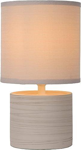 Lucide GREASBY - Lampe De Table (Douille - E14) - Ø 14 cm - Créme