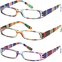 Gamma Ray Women's Reading Glasses - 3 Pairs Ladies Fashion Readers for Women
