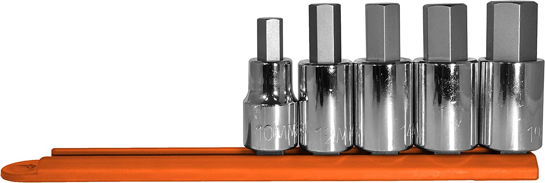 Regular store Mayhew Tools 16020 Metric Hex Socket Bit 5-P Set safety Chrome Plated