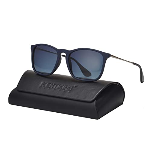 116b851add18 Square Sunglasses for Men Scratch Resistant Lightweight Rectangular Retro  Matte Frame 400UV Protection