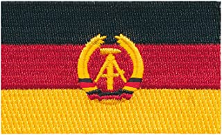 80 x 50 mm DDR Flagge Ost Berlin Germany Flag Patch Aufnäher Aufbügler 0676 X