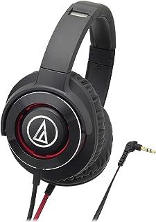audio-technica SOLID BASS ポータブルヘッドホン 重低音 ブラックレッド ATH-WS770 BRD