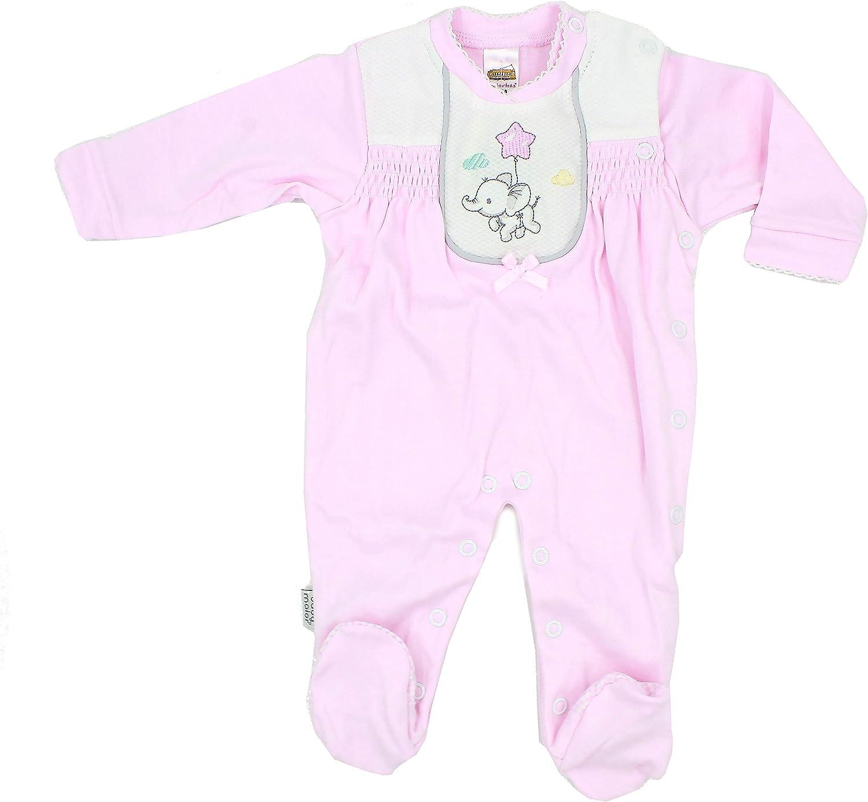 Maiorista Pink Newborn Babygrow Footed Sleep and Play 1-3-6 Mont