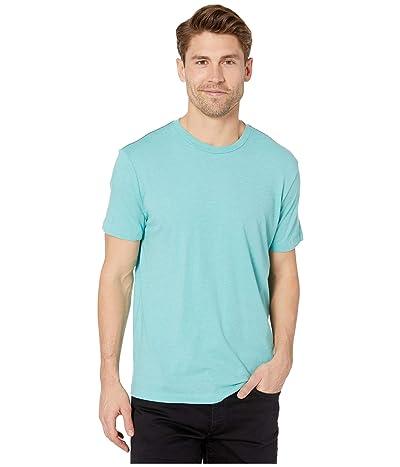 RVCA Solo Label Short Sleeve T-Shirt (Bermuda Blue) Men