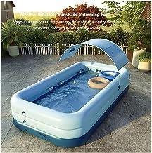 BSWL Piscina Inflable con Dosel - Piscina Familiar con Toldo con Sombrilla para Niños Y Adultos Adecuado para Patio/Jardín/Patio Summer Water Play Party 260X160x68cm,Azul