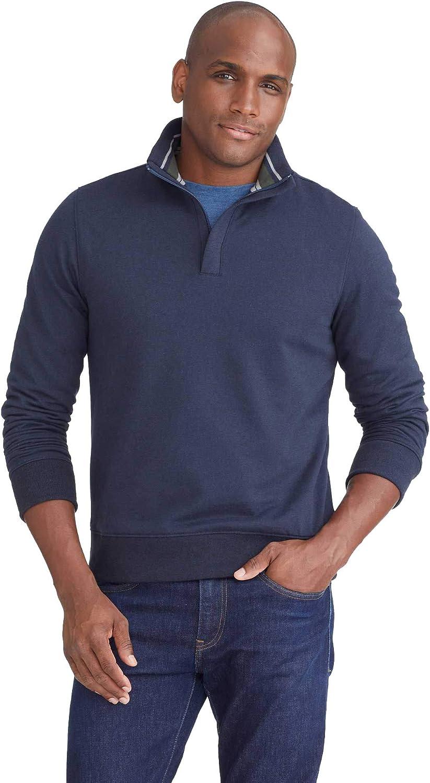 UNTUCKit Challenge the lowest price of Japan Corral Latest item - Men's Fleece Long Quarter Zip Sweatshir Sleeve