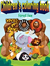 Children's coloring book: fun in the forest