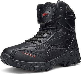 AUTOECHO Desert Boots - Scarpe da Combattimento da Commando Maschili dell'Esercito Alto, Scarpe da Trekking da Esterno per...