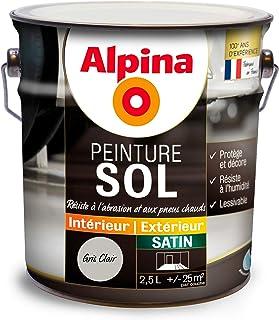 ALPINA Peinture Sol   Satin Gris Clair 2,5L 25m²