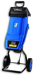 Landworks Electric Wood Chipper Shredder Mulcher Portable Polypropylene Body 17:1 Reduction 15-Amp 1800 Watt 120VAC 1.5