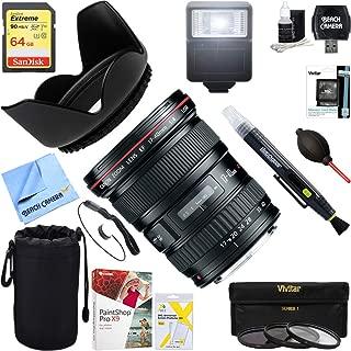 Canon (8806A002) EF 17-40mm F/4 L USM Lens + 64GB Ultimate Filter & Flash Photography Bundle