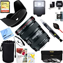 Canon (8806A002) EF 17-40mm F/4 L USM Lens + 64GB Ultimate Filter & Flash Photography Bundle