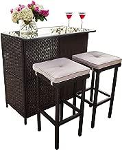Best outdoor wicker bar table Reviews