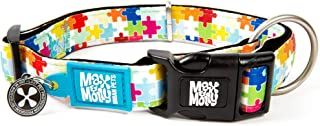 Max & Molly Puzzle Smart Id Collar  Comfortable   Odor Free Neoprene  Smart Id Tag   Lost Pet Protection Program   Extraor...
