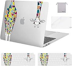 MOSISO Funda Compatible con MacBook Air 13 pulgadas 2020-2018 A2337 M1 A2179 A1932,Carcasa Rígida de Jirafa de Plástico & ...
