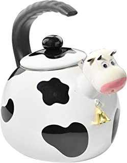 HOME-X Cow Whistling Tea Kettle, Cute Animal Teapot, Kitchen Accessories and Décor