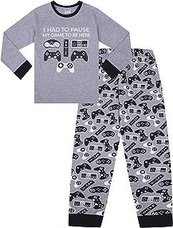 The PyjamaFactory Pigiama Corto in Cotone Nero con Scritta Cant Hear You Im Gaming