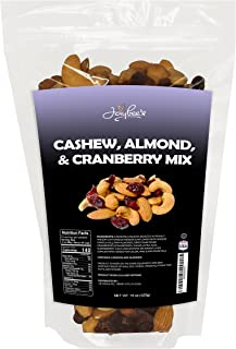 Jaybee's Nuts - Cashew, Almond & Cranberry Trail Mix 15 oz Resealable Bag - Unsalted Mixed Fruit and Nut, Healthy Antioxid...