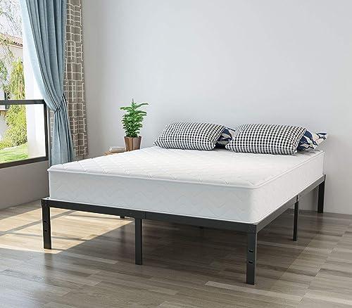NOAH MEGATRON Full Platform Bed Frame Heavy Duty – 14 Inch