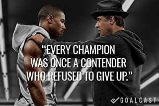 Get Motivation Sylvester Stallone Rocky Balboaposter paper print 12 x 18 inch