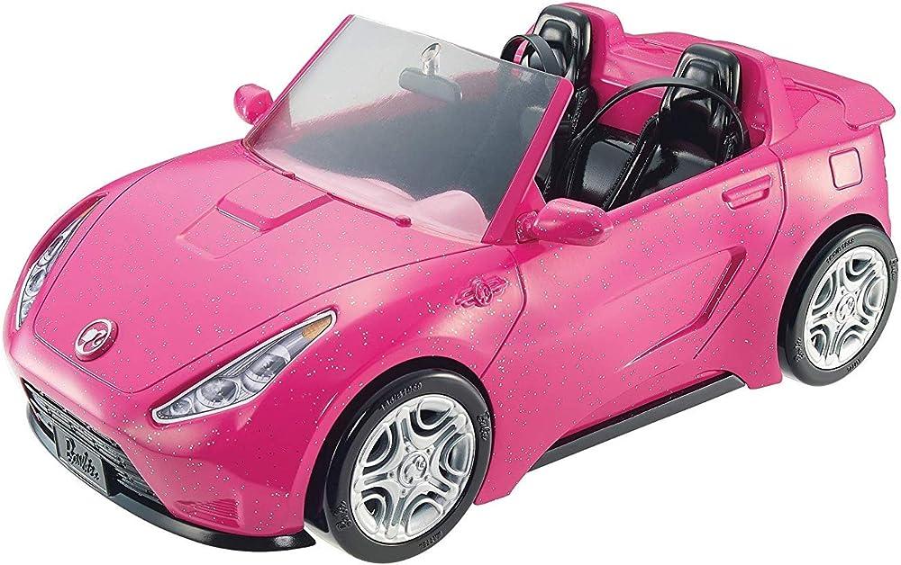 Barbie cabrio glamour auto due posti con dettagli realistici, colore rosa DVX59