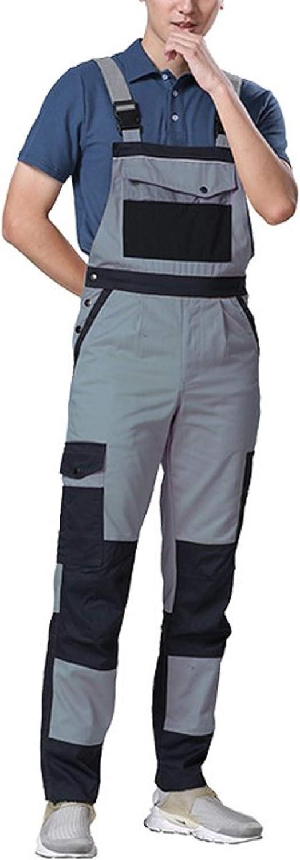 Cicilin Men's Overalls Work Pants Cargo Multi Pocket Bib and Brace Salopettes