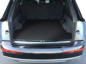 ToughPRO Cargo/Trunk Mat Compatible with Audi Q7 - All Weather - Heavy Duty - (Made in USA) - Black Rubber - 2017, 2018, 2019, 2020
