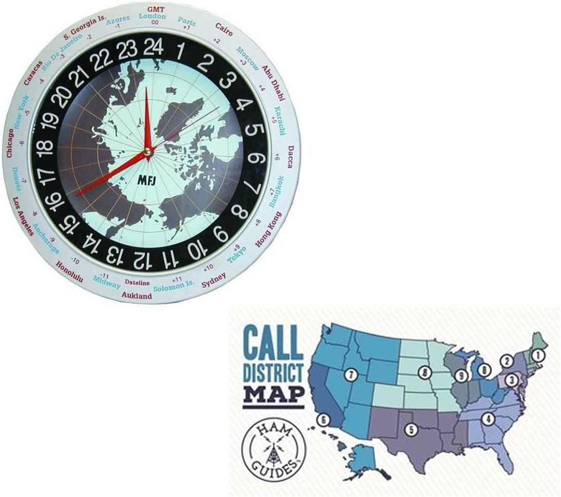 Department store Department store MFJ Clock 12 24-hour Analog 12in Ref and TM Ham Pocket Guides