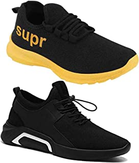WORLD WEAR FOOTWEAR Men Multicolour Amazing Collection Sneakers Shoes-Pack of 2 (Combo-(2)-9210-9228)