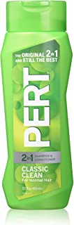 Pert Plus Classic clean 2 in 1 Shampoo and Conditioner For Normal Hair by Pert Plus for Unisex - 13.5 oz Shampo, 400 ml
