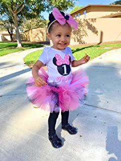 Minnie mouse birthday outfit, first birthday outfit, cake smash outfit, grils birthday outfit, baby birthday oufit any age