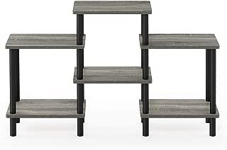 Furinno Turn-N-Tube DIY Multipurpose Combination Rack, French Oak Grey/Black