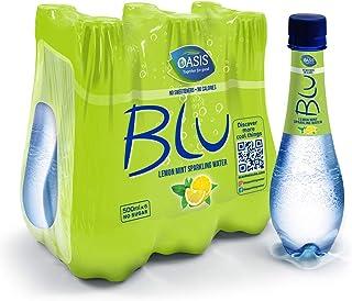 Oasis Blu Sparkling Lemon & Mint Water, 6 x 500 ml