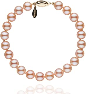 7.5-8.0 mm Pink to Peach Freshadama Cultured Pearl Bracelet