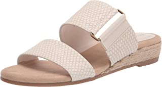 Easy Street Women's Wedge Sandal, Bone Snake, 6 Wide