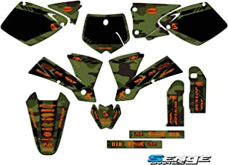 Senge Graphics kit compatible with KTM Late 2001 SX (Has the same plastics as the 2002 SX 250), Apache Green Complete Graphics Kit