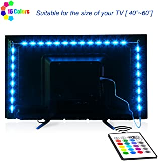 TV-LED-Backlight,Maylit Pre-Cut 6.56ft LED Strip Lights...