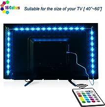 TV-LED-Backlight,Maylit Pre-Cut 6.56ft LED Strip Lights for 40-60in TV,4PCS USB Powered..